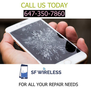 WE FIX REPAIR IPHONE IN MINS!, SAMSUNG , LG AT LOWEST PRICE @55