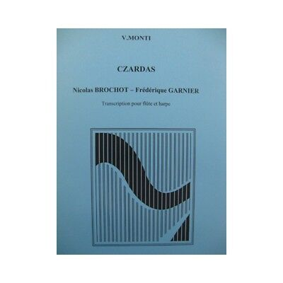 MONTI V. Czardas Flute Harp 1988 partition sheet music score segunda mano  Embacar hacia Argentina