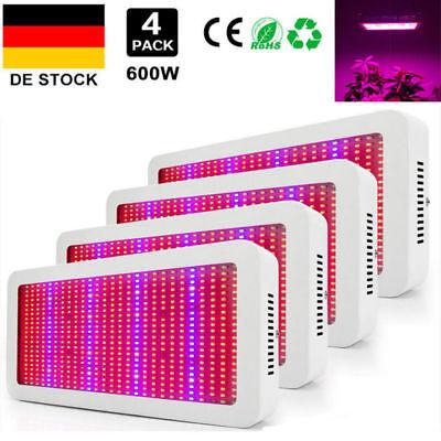 1-4× 600W LED Pflanzenlampe Full spectrum Grow Licht Pflanzen Wuchs Gewächshaus ()