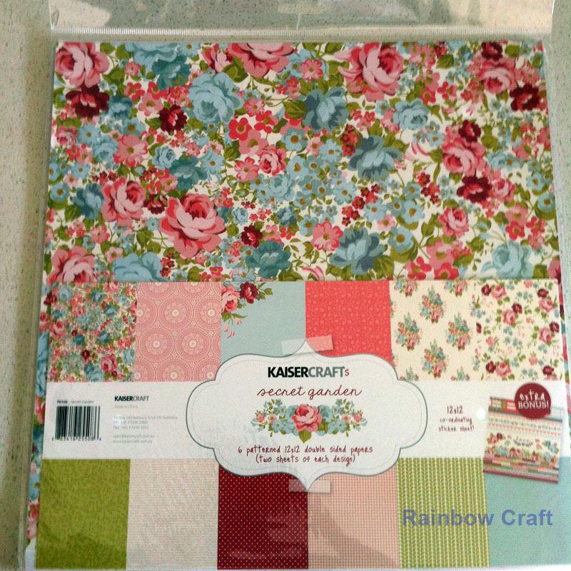 Kaisercraft Paper Pack Bonus Sticker Sheet Christmas Carol Secret garden - Secret Garden