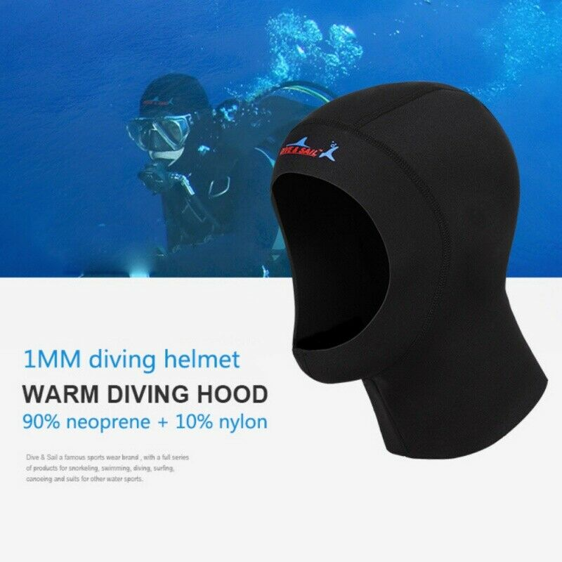 Unisex Swimming Diving Cap Anti-scratch Diving Hood Surfing Swimming Head Cover