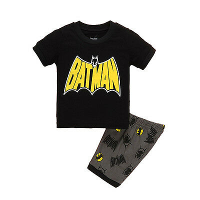 Kids Baby Boy's Summer T-shirt Cotton Outfits Shorts Sleeve Batman Costume - Baby Boy Batman Costume