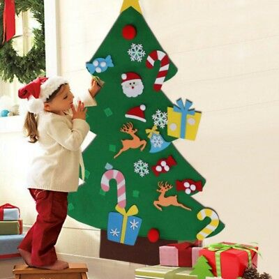 DIY Felt Christmas Tree Set with Removable Ornaments Kids Hand Craft Decorations
