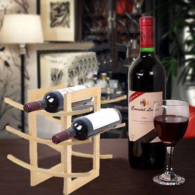 12 Bottle Bamboo Wine Rack Holder Wood Storage Kitchen Bar Countertop Table FH 12 Bottle Countertop Wine