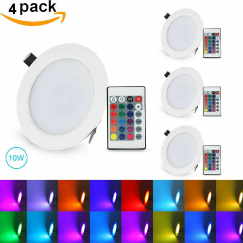 Dimmable RGB Recessed LED Panel Light 5W/10W Ceiling Down Li