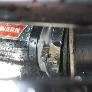 Broken Warn ProVantage 4500 winch