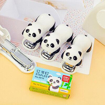 Office Staples Set Cute Panda Shape Paper Document Bookbinding Machine Stapler