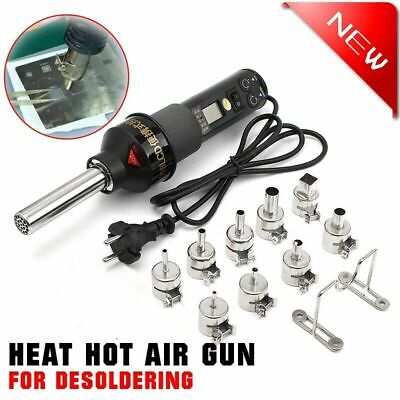 450w 110v Lcd Display Electronic Hot Air Heat Gun Soldering Station W 9 Nozzles