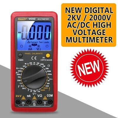 New Digital 2000v Acdc High Voltage Multimeter Voltmeter Tester