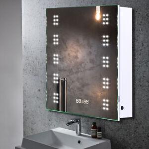 Bathroom cabinet shaver socket ebay bathroom mirror cabinet with led lights shaver socketdemister padsensorclock aloadofball Images