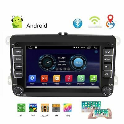 2DIN Autoradio Android 8.1 GPS Navi Bluetooth Für VW GOLF 5 PASSAT POLO Caddy ()