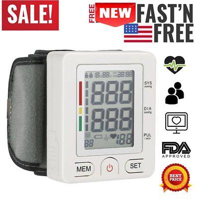 Automatic Wrist Blood Pressure Monitor BP Cuff Heart Rate Test Meter Machine BP