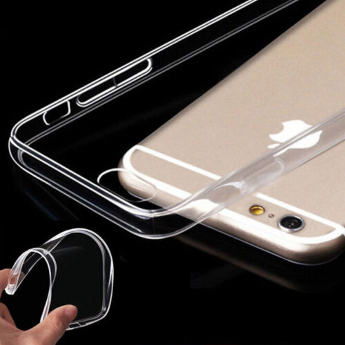 Shockproof 360° Silicone Protective Clear Case Cover For iPhone 7 Plus 6s 5 Case