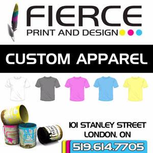 CUSTOM APPAREL and designs!