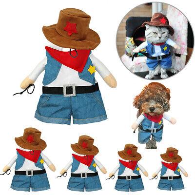 ✅Hunde Kleidung Halloween Kostüm Haustier Katze Shirt mit Hut Weinachten (Kostüm Haustier)