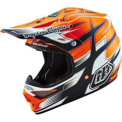 Troy Lee Designs Air Starbreak Offroad MX Dirt Bike Helmet Orange White XSmall ()