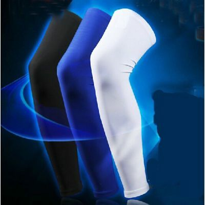 Men Basketball Leg Sleeve Protect Guard Running Knee Protector Gear Long Sleeves