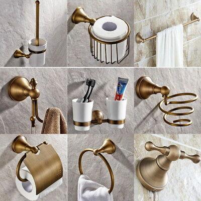 Antique Brass Bathroom Accessories Set Bath Hardware Towel Bar sset019 ()