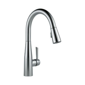 Delta 9113 Essa Single Handle Pull Down Kitchen Faucet Arctic St