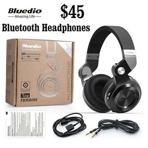 Bluedio T2S Wireless Bluetooth Headphones (4 Colors)