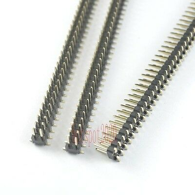 10pcs Rohs 2.54mm Pitch 2x40 Pin Header Strip Double Row Smtsmd Male Pcb Board