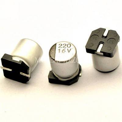 5pcs 220uf 16v 220mfd 16volt Smd Electrolytic Capacitor 6.3mm7.7mm