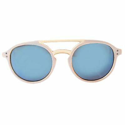 Round White and Orange Sunglasses With Blue (Orange And White Sunglasses)