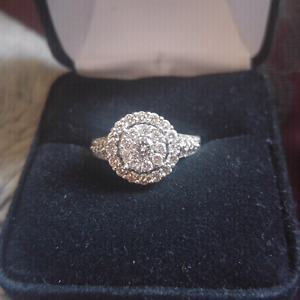 1.39cttw 14k Diamond Engagement Ring with band Rose and White