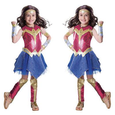 Child's Wonder Woman Costume Cosplay Fancy Dress Halloween Party Costumes Kids - Children's Wonder Woman Halloween Costume
