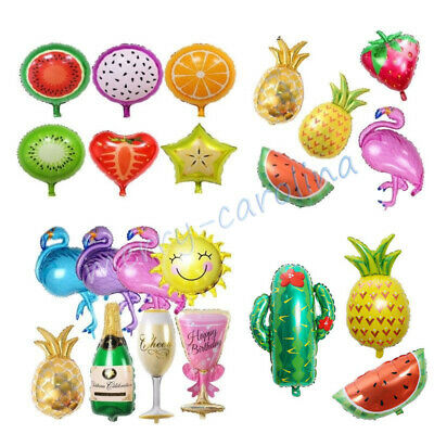 Summer Hawaiian Luau Beach BBQ for Birthday Party Decoration Helium Foil - Hawaiian Balloon Decorations