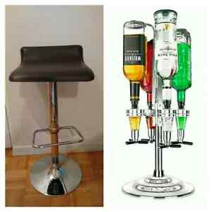 3 BAR STOOLS AND FINAL TOUCH 4 BOTTLE