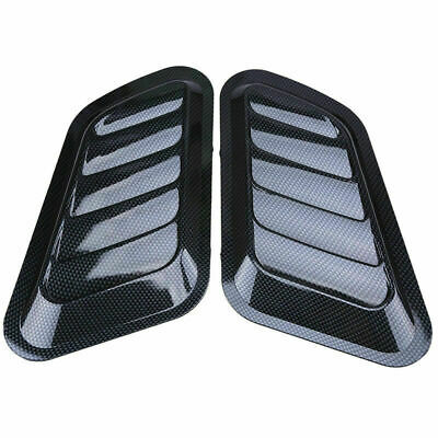 Carbon Fiber Look Car Decorative Air Flow Intake Scoop Vent Covers Aerial Hood