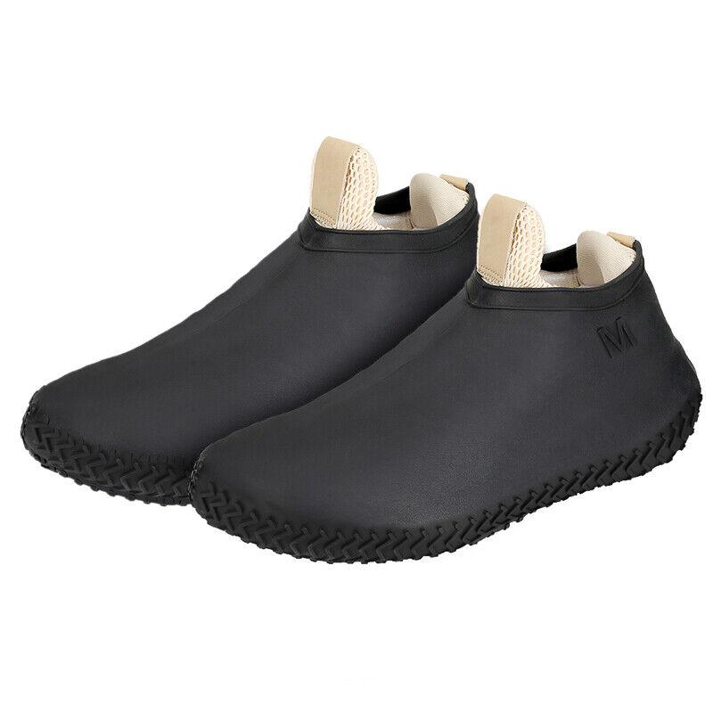 Rubber Overshoes Rain Waterproof non-slip Shoe Covers Protector Reusable S-XL