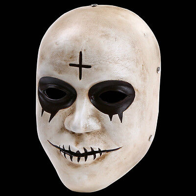 The Purge Anarchy 2 Movie Costume Horror Fancy Dress Mask Resin Halloween Mask