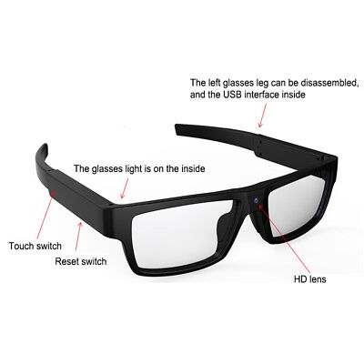 1080P 8GB Eyewear Glasses Camera Spy Camera Hidden Lens Video Digital Recorder for sale  Shipping to Nigeria