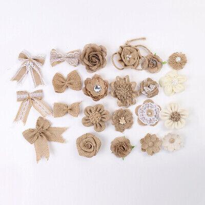Burlap Flower Bow Knot Craft DIY Wedding Supplies Party Curtain Venue Decoration](Burlap Flowers Diy)