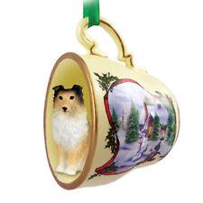 Sheltie Christmas Ornament Teacup Sable | eBay