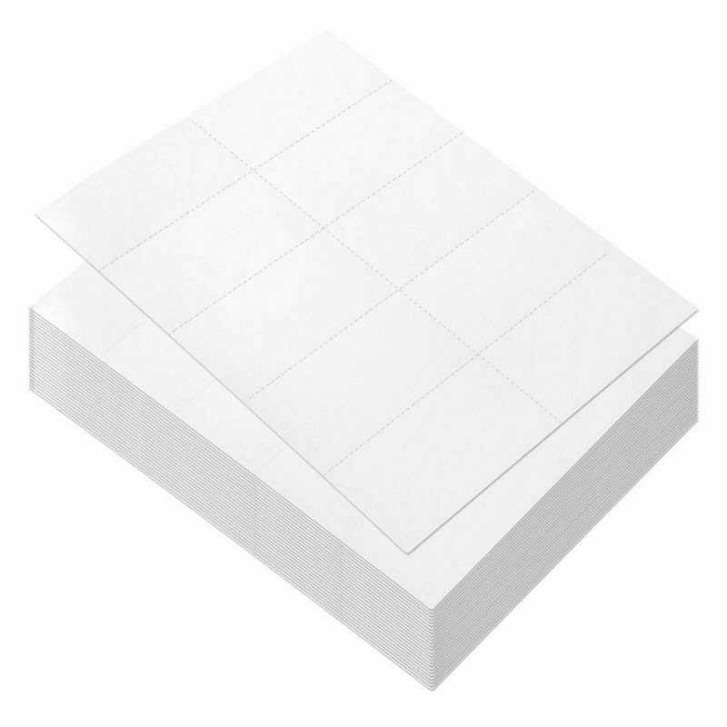 100 Sheets Blank Perforated Paper - 1000 White Card Stock for Laser Printers