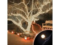 100 Ice White Connectable Small Rubber Ball LED Lights MV Outdoor