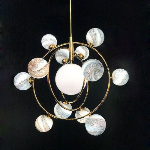 E Planet Gl Ball Pendant Lights