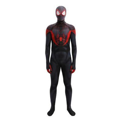 Ultimate Into Spider-Man Miles Morales Bodysuit Cosplay Costume For Adult & Kids