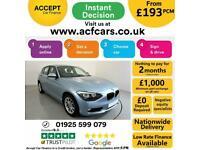 2014 BLUE BMW 120D 2.0 XDRIVE SE DIESEL MANUAL 5DR HATCH CAR FINANCE FR £193 PCM