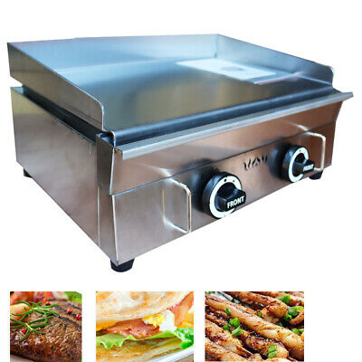 Commercial Countertop Gas Griddle 22 Inch Restaurant Flat Top Grill Bbq 2800pa