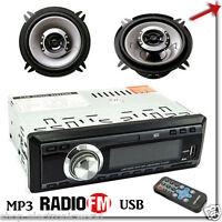 AUTORADIO FM STEREO AUTO LETTORE MP3 USB SD CON COPPIA DI CASSE 300 WATT 13  CM b549249fe171