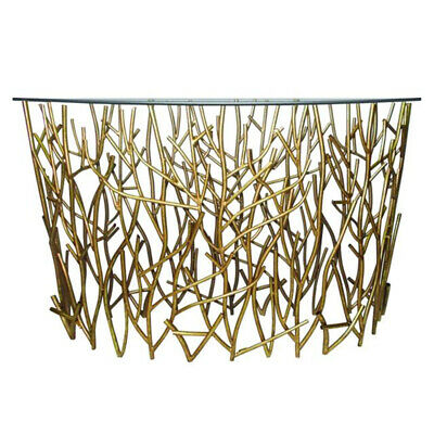 Gold Branches Demilune Twig Console Table Iron Sofa Modern Hall Entry for sale  Shipping to South Africa