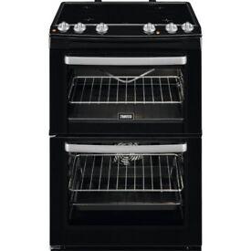 ZANUSSI ZCV668MN 60CM Double Oven Cooker. Black. Freestanding. Purchased 24/11/17.