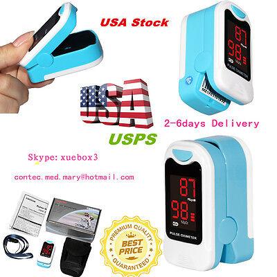 Led Fingertip Pulse Oximeter Blood Oxygen Saturation Spo2 Pr Monitor Case Us Hot