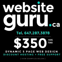 WebsiteGURU.ca - QUALITY ⭐ Web Design + SEO - ☎ - 647.287.3878
