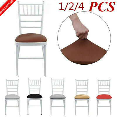 US 2/4pcs Home Dining Chair cushion cover Round Removable Elastic Stretch Cover Dining Chair Cushion Covers