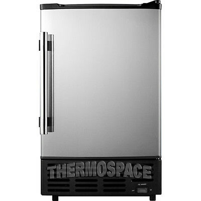 Portable Undercounter Ice Maker Machine W Reversible Stainless Steel Door